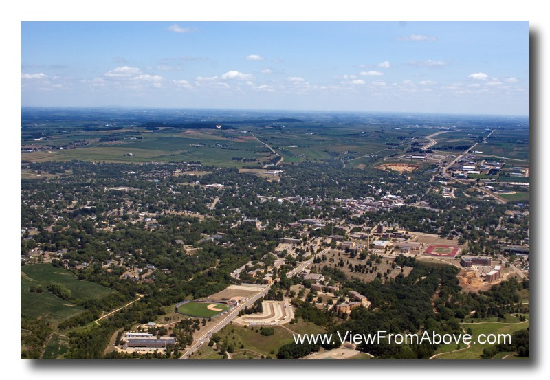 Platteville, Wisconsin  Aerial Photo