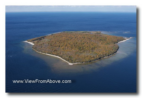 Aerial Photo Plum Island, Door County, Wisconsin