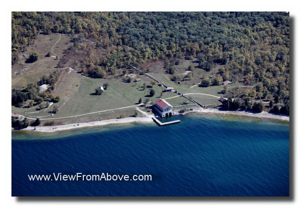 Rock Island Coast Guard Station Aerial Photo