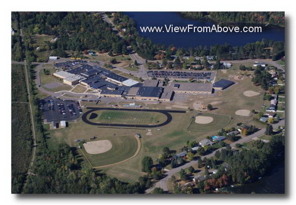 Aerial Photo Tomahawk Wisconsin High School