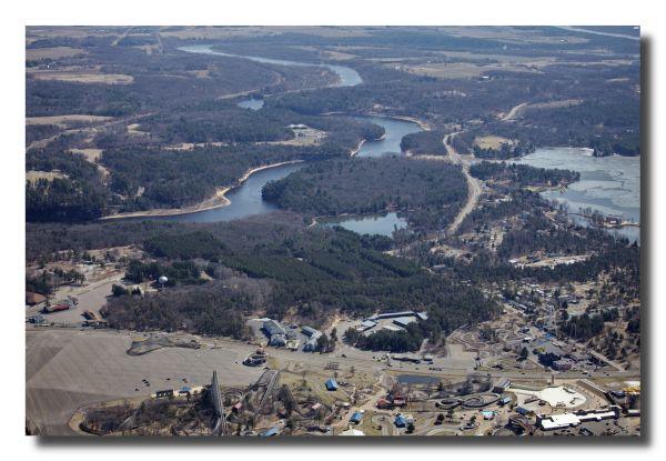 Aerial Photos Wisconsin River at Wisconsin Dells